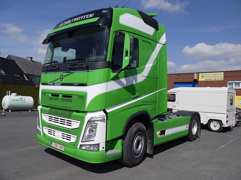 Herspuiten vrachtwagen Roeselare