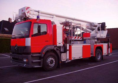 Herspuiten brandweerwagen - carrosserieherstellingen