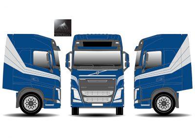 Spuiten vrachtwagen - tekening
