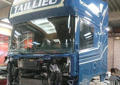 Spuitwerk nieuwe vrachtwagen West-Vlaanderen