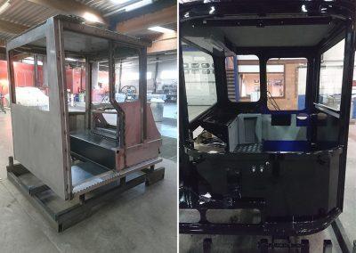Spuitwerk rollend materiaal - werkcabine